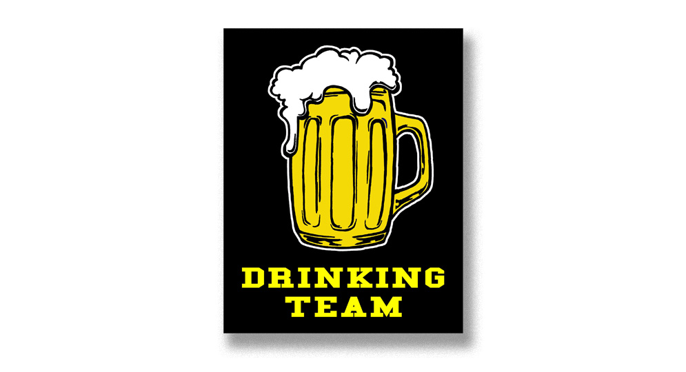 DRINKING TEAM Pins & Stickers