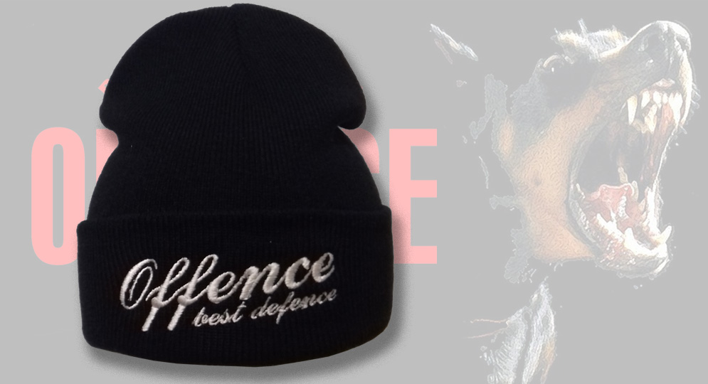 BRONX HAT OFFENCE BEST DEFENCE BLACK Offence best defence