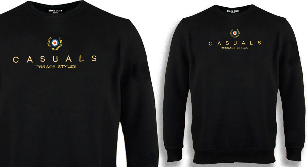 SWEAT CASUALS TERRACE STYLES CROWN AND TARGET Sweaters & Hoodies