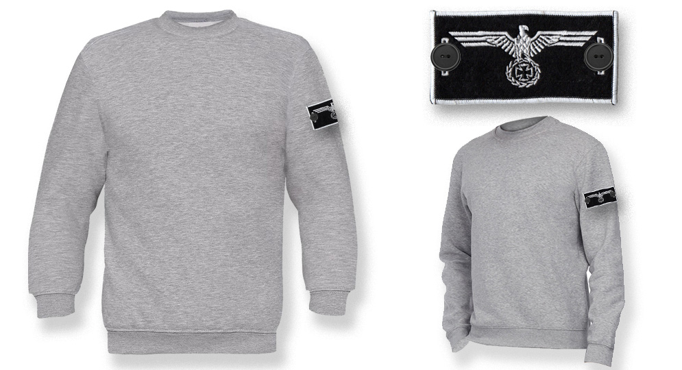 SWEAT LABEL GREY EAGLE CROSS Sweaters & Hoodies