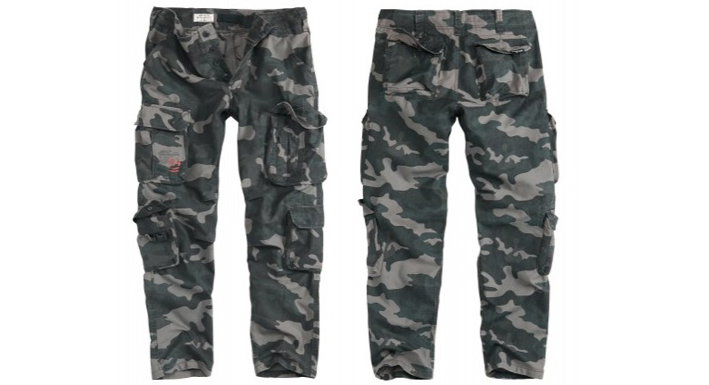 TROUSERS SLIMMY BLACK CAMO