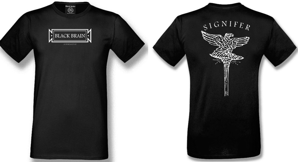 T-SHIRT BLACK BRAIN SIGNIFER T-shirts