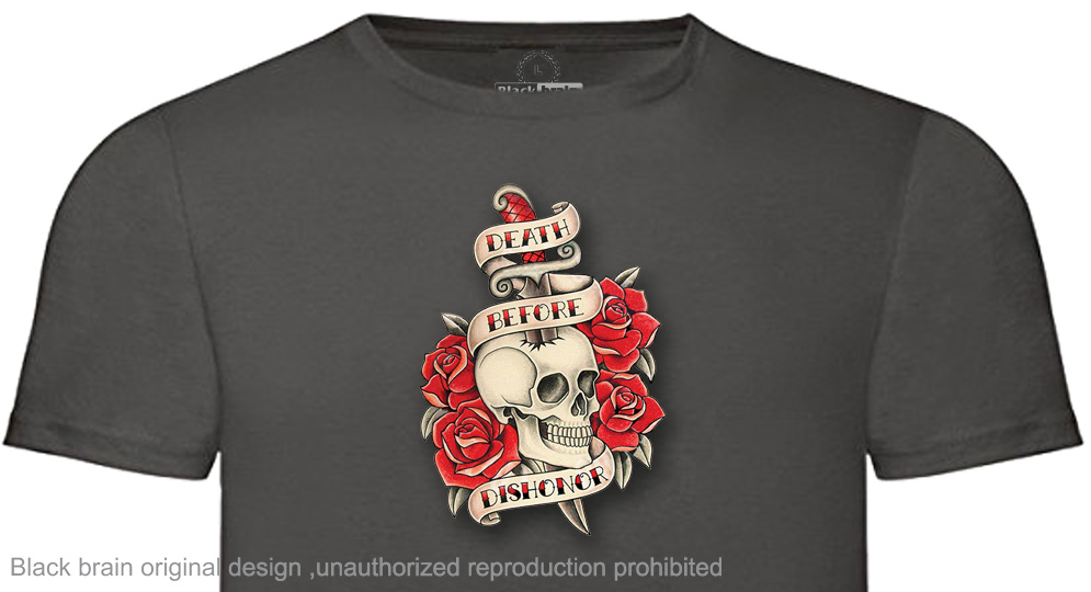 T-SHIRT DEAD BEFORE DISONOR SKULL&ROSES T-shirts