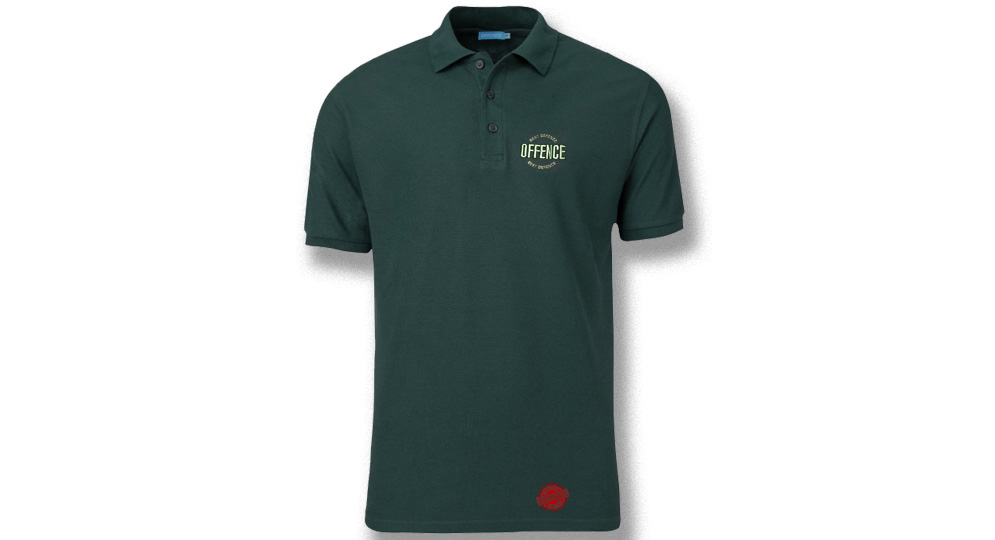 POLO OFFENCE BEST DIFENCE DARK GREEN Offence best defence