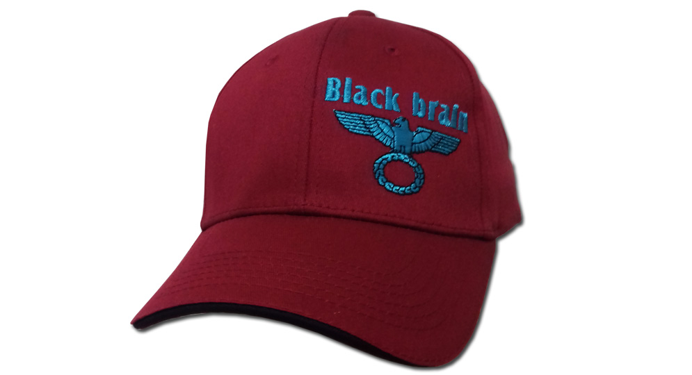 CAP BLACK BRAIN BORDEAUX Caps