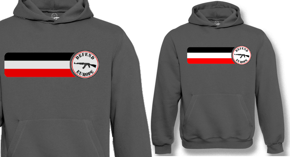 HOODY DEFEND EUROPE FLAG Sweaters & Hoodies