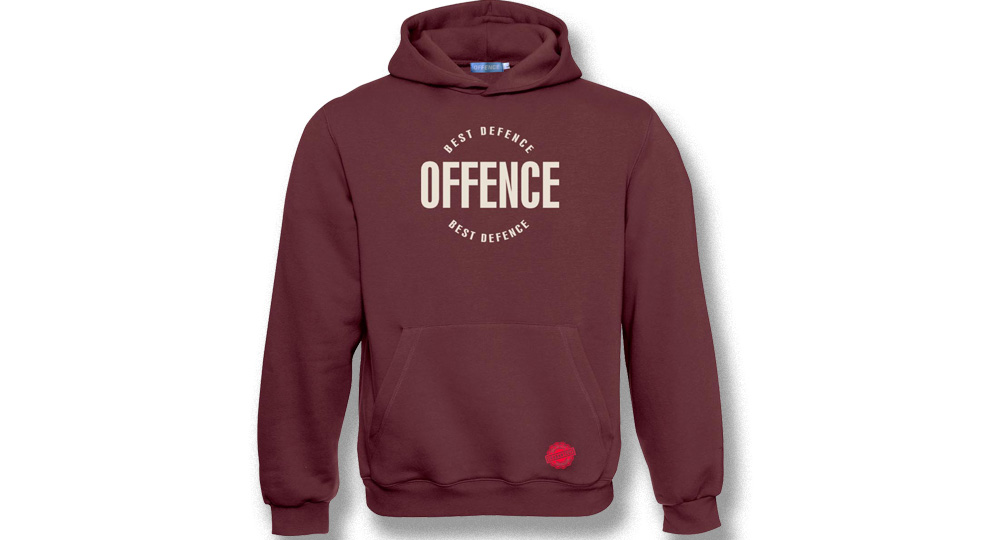 HOODY OFFENCE BEST DIFENCE Circle BOREAUX Offence best defence