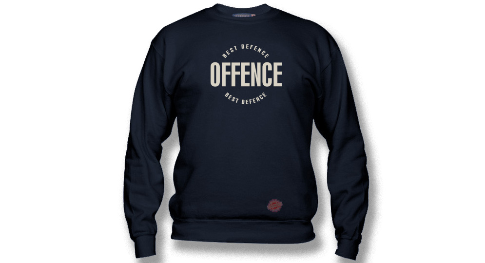 SWEAT OFFENCE BEST DIFENCE Circle NAVY Offence best defence