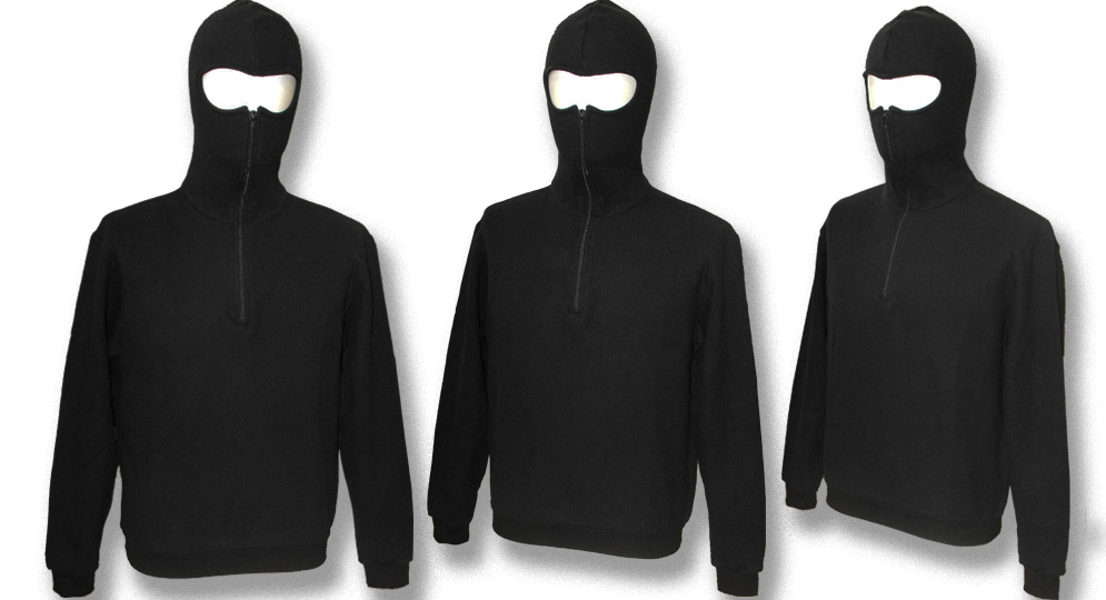 HOODY NINJIA BLACK Sweaters & Hoodies