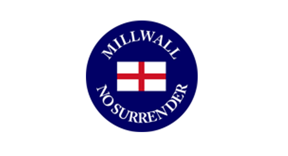 STICKERS MILLWALL NO SURRENDER Pins & Stickers