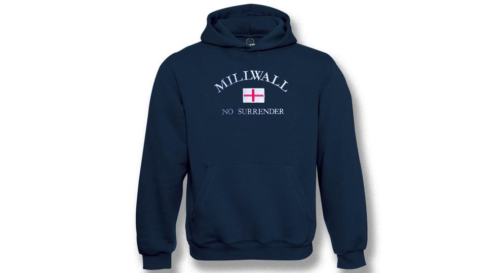 HOODY MILLWALL NO SURRENDER Sweaters & Hoodies
