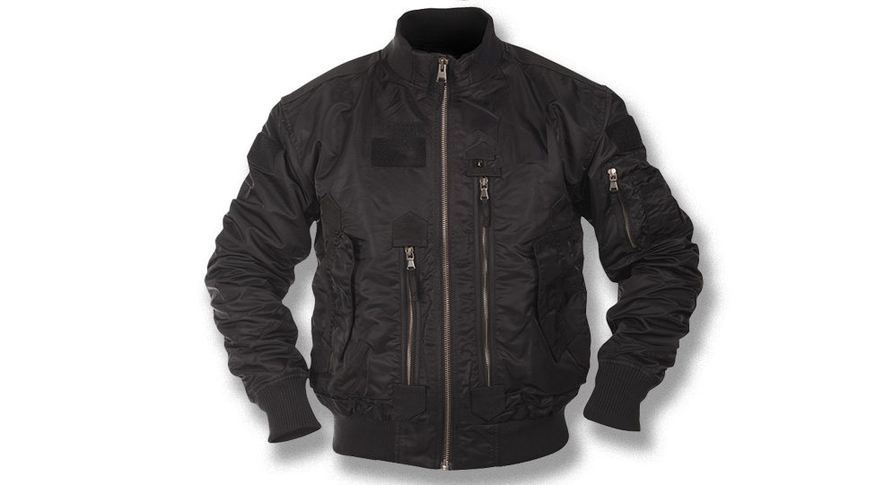 TACTICAL FLIGHT JACKET BLACK