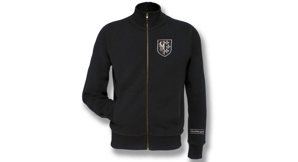 FULL ZIP SWEAT JACKET CHARLEMAGNE Sweaters & Hoodies