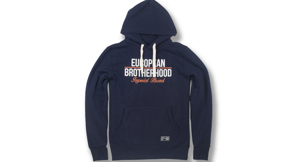 HOODY EB IMPERIAL BRAND BLUE European Brotherhood