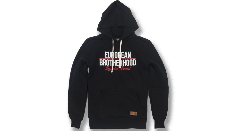 HOODY EB IMPERIAL BRAND BLACK European Brotherhood