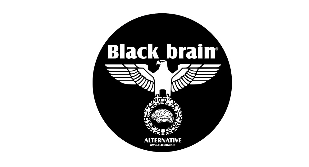 STICKER BLACK BRAIN EAGLE Pins & Stickers