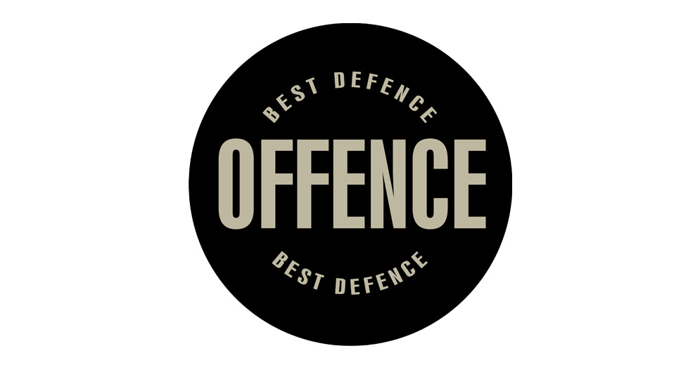 STICKER OFFENCE BEST DIFENCE Pins & Stickers