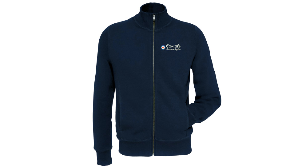 SWEAT FULL ZIP CASUALS TERRACE STYLES BLUE Sweaters & Hoodies