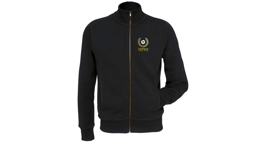 SWEAT FULL ZIP CASUALS TERRACE STYLE BLACK Sweaters & Hoodies