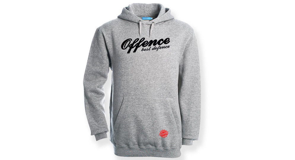 HOODY OFFENCE BEST DEFENCE SPORT GREY Offence best defence
