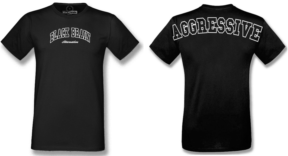 T-SHIRT BLACKBRAIN AGGRESSIVE T-shirts