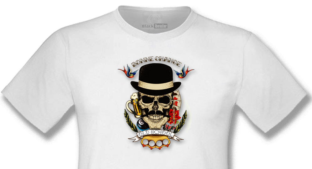 T-SHIRT BONNE CHANCE SKULL T-shirts