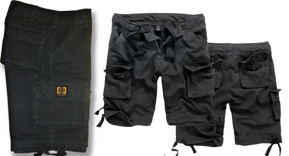 BERMUDA BLACK CASUALS CENTER Shorts & trousers