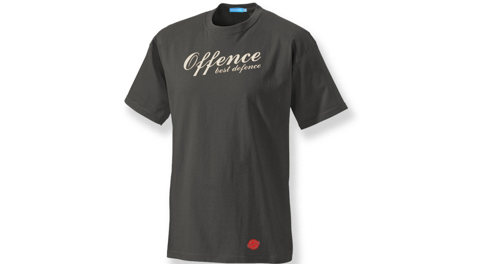 T-SHIRT OFFENCE BEST DEFENCE ANTHRACITE Offence best defence