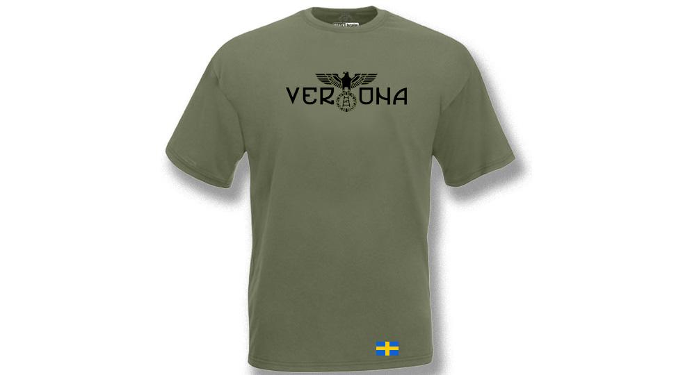 T-SHIRT OLIVA VERONA AQUILA BANDIERA T-shirts