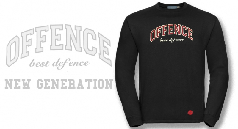 SWEAT OFFENCE BEST DEFENCE NEW GENERATION BLACK Offence best defence