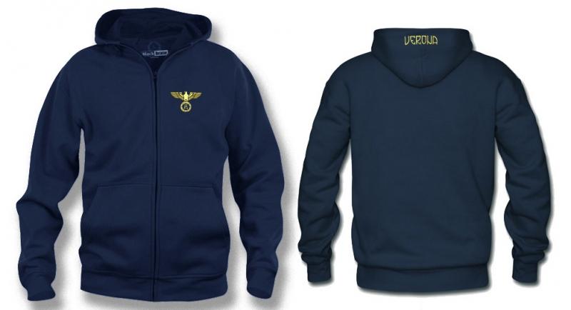 HOODY ZIP AQUILA VERONA CUORE Sweaters & Hoodies