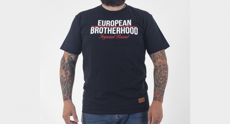 T-SHIRT IMPERIAL BRAND BLACK European Brotherhood