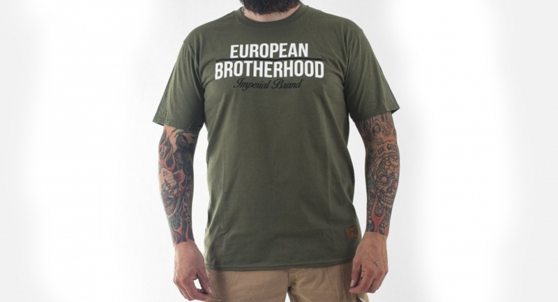 T-SHIRT IMPERIAL BRAND OLIVE European Brotherhood