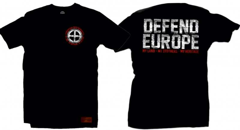 T-SHIRT DEFEND EUROPE BLACK