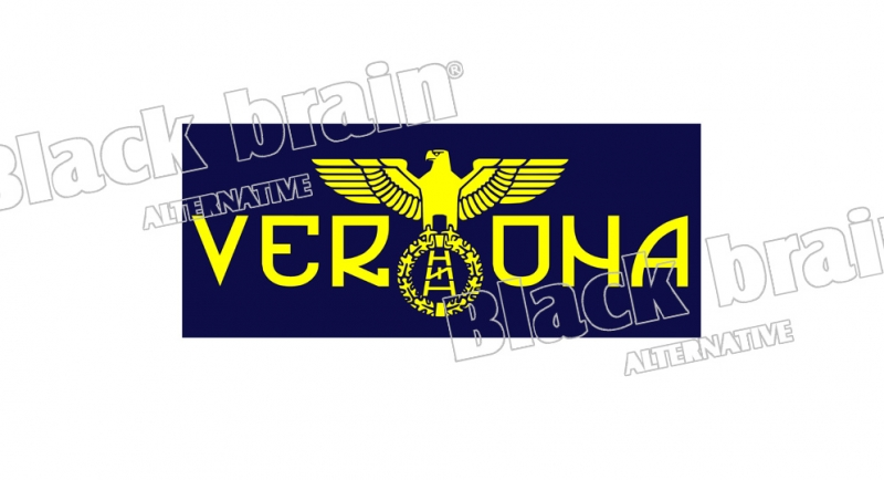 STICKER AQUILA VERONA ALLORTO SCALA RUNA Pins & Stickers