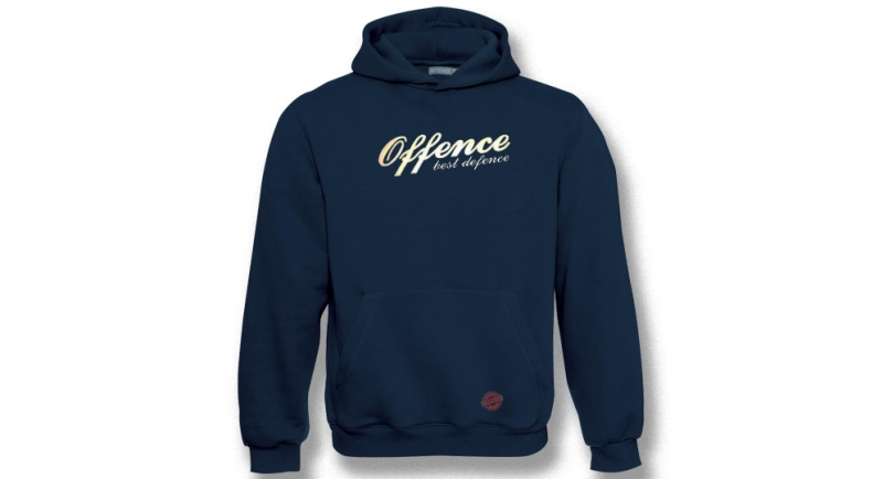 HOODY OFFENCE BEST DEFENCE DARK BLUE Offence best defence