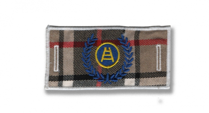 PATCH ALLORO SCALA TARTAN LABEL FOR BUTTONS Patches