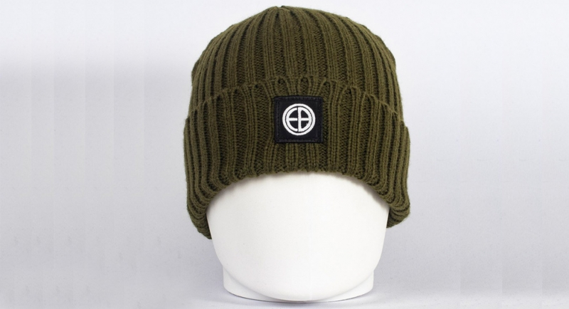 BEANIE EB OLIVE European Brotherhood
