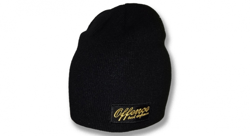 BEANIE OFFENCE BEST DEFENCE BLACK/YELLOW