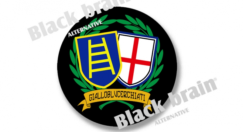 STICKER GIALLOBLUCERCHIATI Pins & Stickers