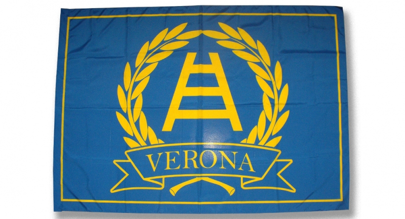 BANDIERA GRANDE ALLORO SCALA VERONA Flags