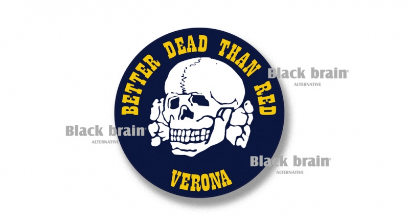 STICKER BETTER DEAD THAN RED VERONA Pins & Stickers