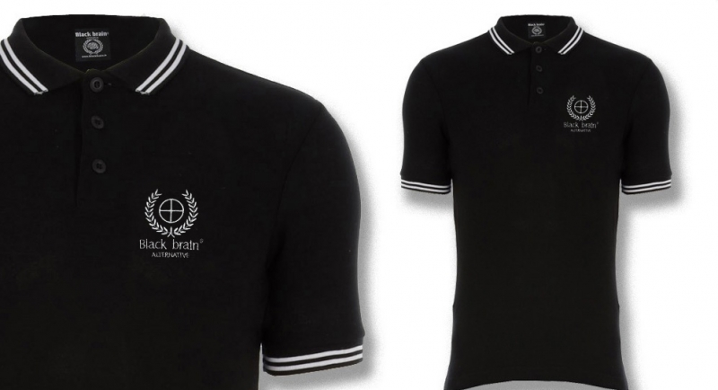 POLO BLACK BRAIN CROSS Polos & Pullovers