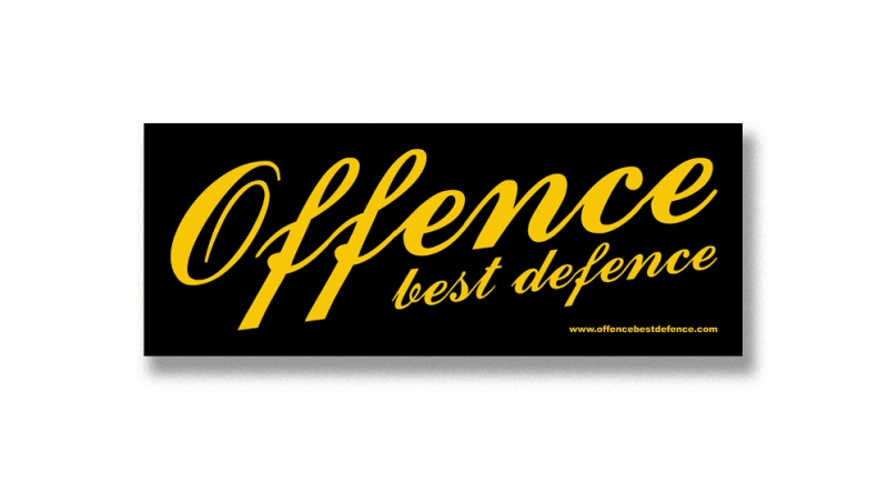 STICKER OFFENCE BEST DIFENCE CLASSIC Pins & Stickers
