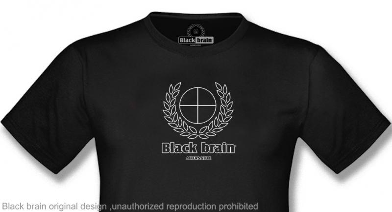 T-SHIRT BLACK BRAIN LAUREL&CROSS T-shirts