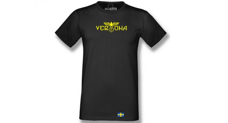 T-SHIRT VERONA NERA AQUILA BANDIERA T-shirts