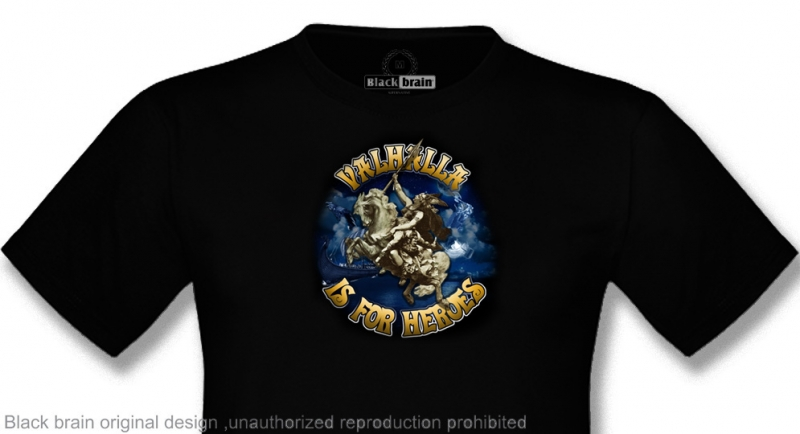 T-SHIRT VALKYRIE - VALHALLA IS FOR HEROES T-shirts