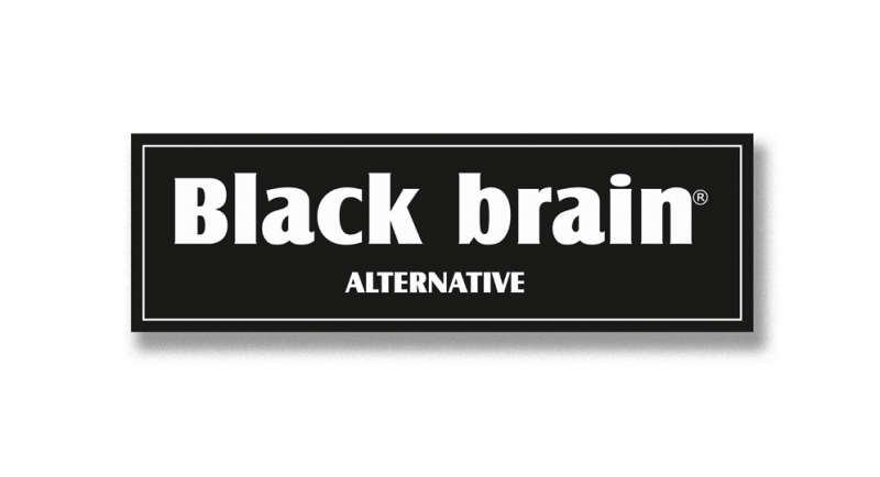 STICKER BLACK BRAIN Pins & Stickers