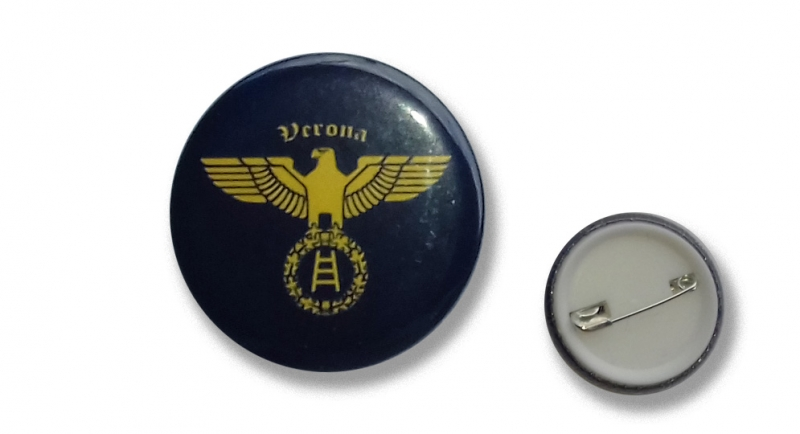 BUTTON PIN AQUILA VERONA Pins & Stickers