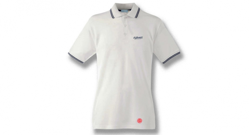 OFFENCE BEST DEFENCE POLO WHITE Offence best defence